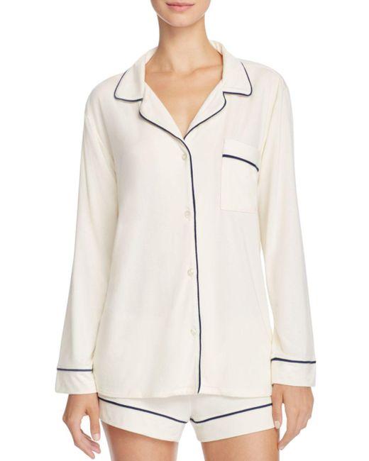 Eberjey - White Gisele Long Sleeve Short Pajama Set - Lyst
