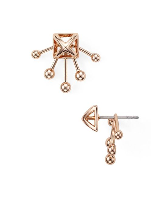 Rebecca Minkoff | Metallic Pyramid Fan Back Ear Jackets | Lyst