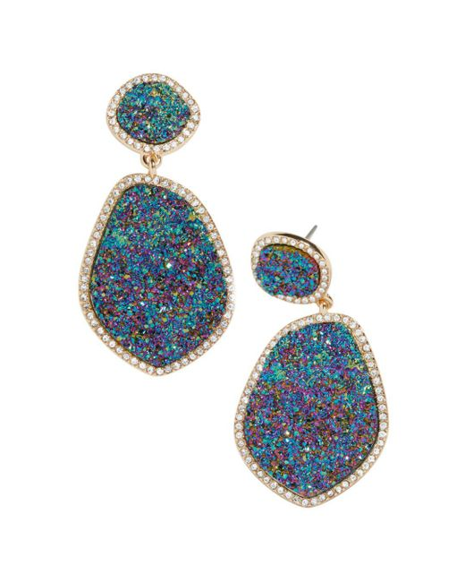 BaubleBar - Blue Vina Druzy Drop Earrings - Lyst