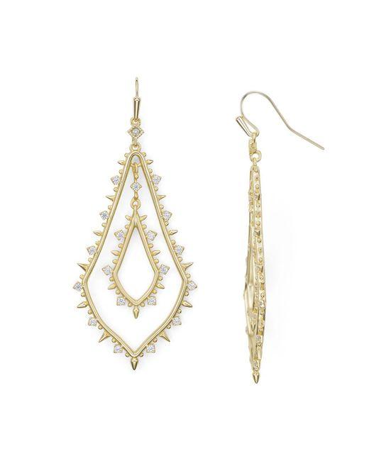 Kendra Scott   Metallic Alice Earrings   Lyst