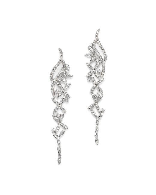 KC Designs | 14k White Gold Diamond Large Statement Drop Earrings | Lyst