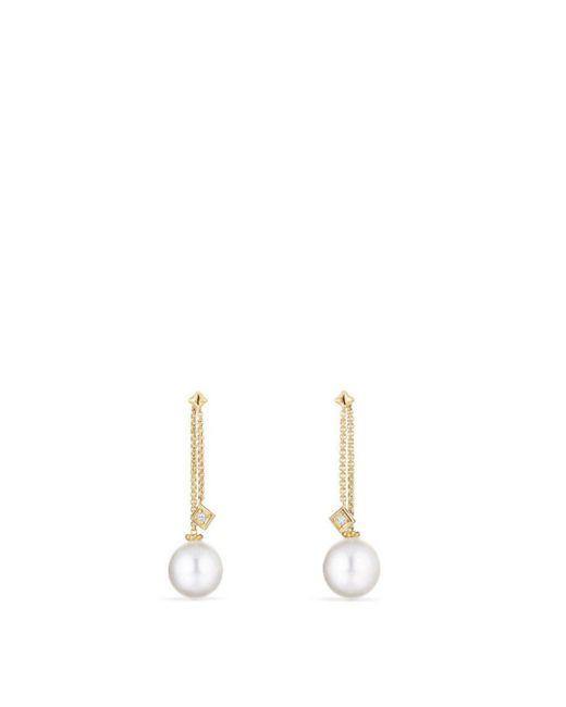 David Yurman - Metallic Solari Drop Ear Jackets In 18k Gold With Diamonds And Cultured South Sea Pearl - Lyst
