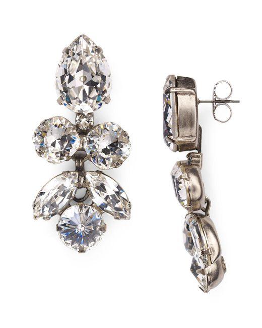 Sorrelli | Metallic Lotus Bloom Swarovski Crystal Drop Earrings | Lyst