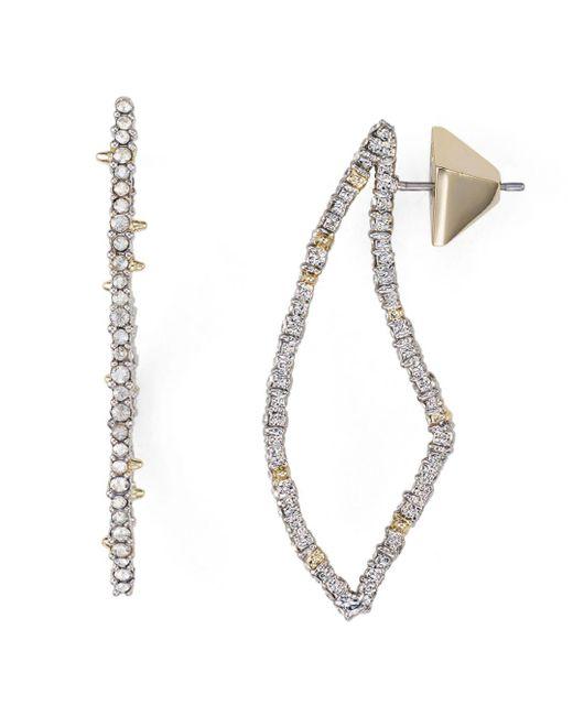 Alexis Bittar - Metallic Swarovski Crystal-encrusted Abstract Thorn Drop Earrings - Lyst