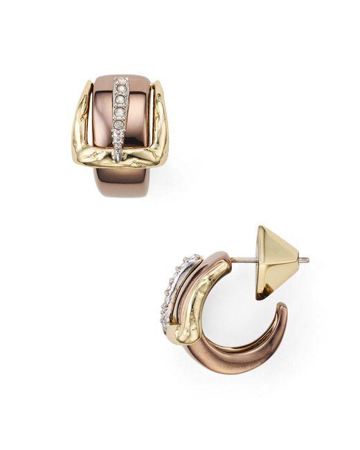 Alexis Bittar   Metallic Small Buckle Hoop Post Earrings   Lyst
