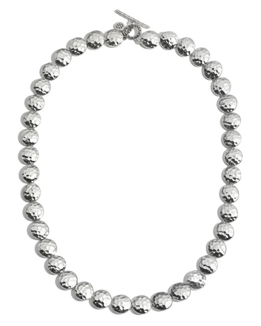 "John Hardy - Metallic Sterling Silver Palu Disc Necklace, 18"" - Lyst"