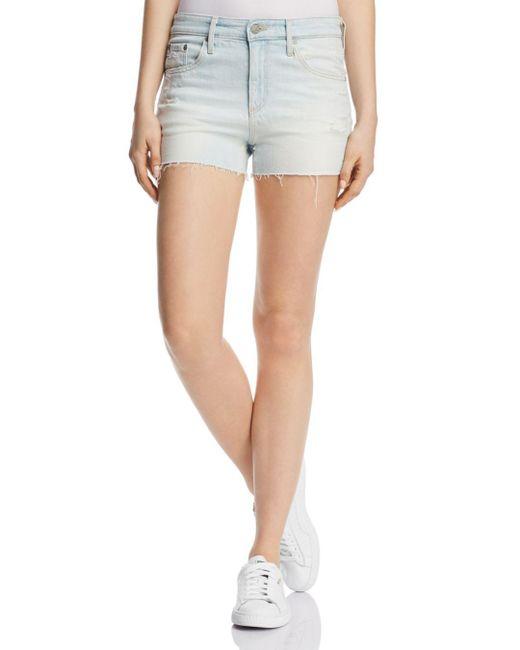 AG Jeans - Blue Bryn Denim Shorts In 27 Years Sunfade Indigo - Lyst