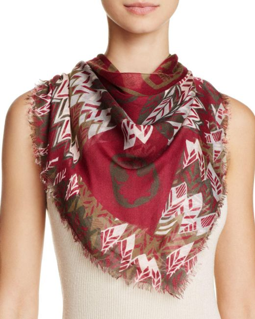 Zadig & Voltaire - Red Kerry Feather Butterfly Scarf - Lyst