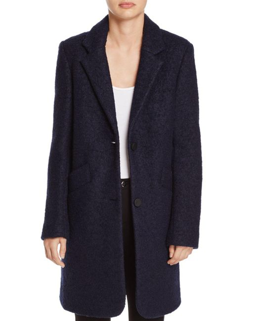Marc New York - Blue Paige Bouclé Coat - Lyst