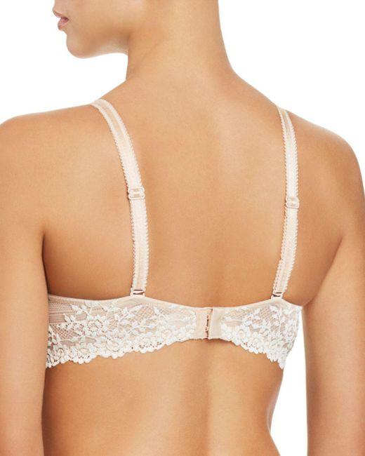 679d961fd7 ... Wacoal - Natural Embrace Lace Plunge Convertible Contour Underwire Bra  - Lyst ...
