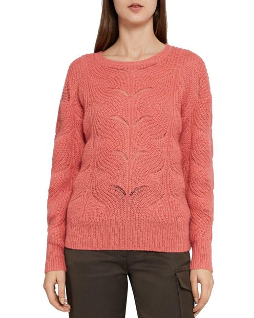 fc710dfc3c Lyst - Reiss Dinah Open-knit Sweater in Pink - Save 71%