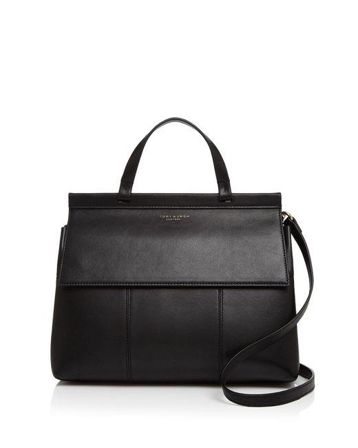 Tory Burch - Black Block-t Leather Satchel - Lyst