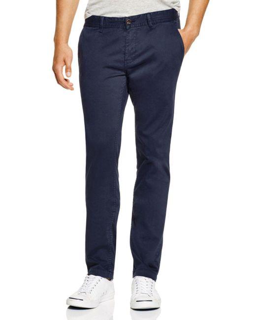 BOSS - Blue Boss Orange Schino Pants - Slim Fit for Men - Lyst