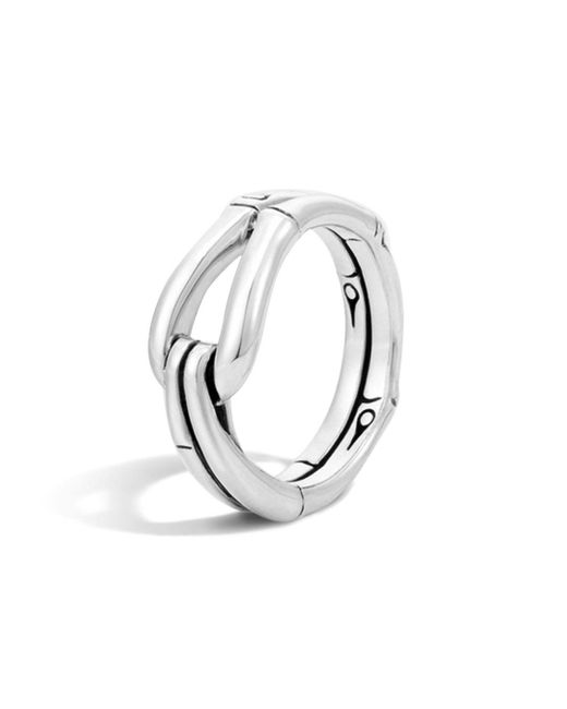 John Hardy - Metallic Bamboo Silver Hook Ring - Lyst