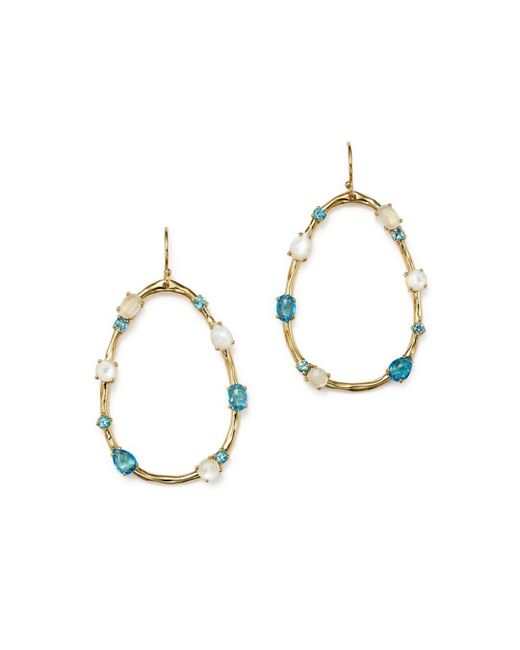 Ippolita - Metallic 18k Yellow Gold Rock Candy® Mixed Doublet Open Drop Earrings In Raindrop - Lyst