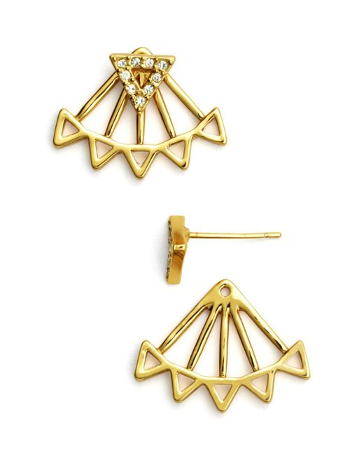 Rebecca Minkoff | Metallic Triangle Ear Jackets | Lyst