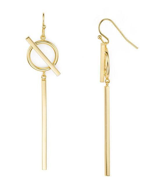 Argento Vivo - Metallic Circle And Bar Drop Earrings - Lyst
