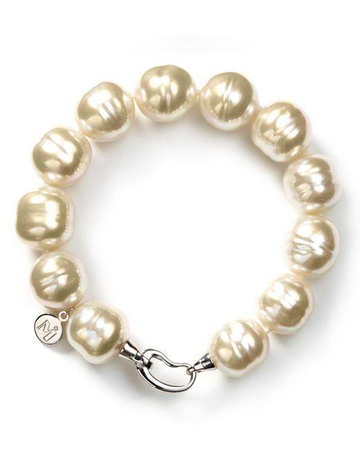Majorica - Metallic Baroque Simulated Pearl Bracelet - Lyst