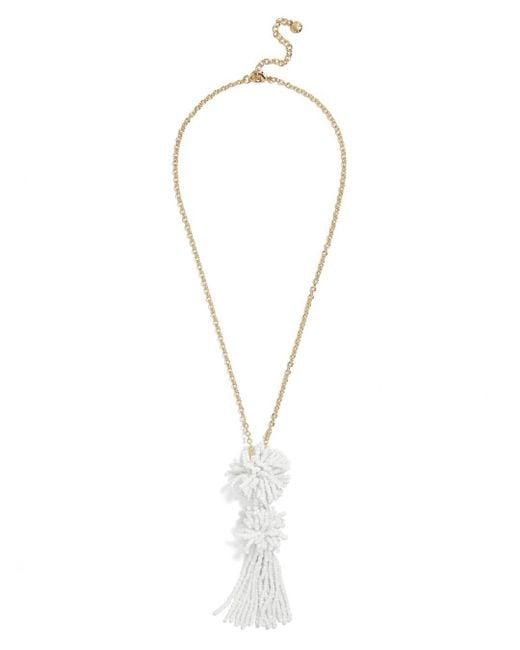 BaubleBar - White Rishita Pendant Necklace - Lyst