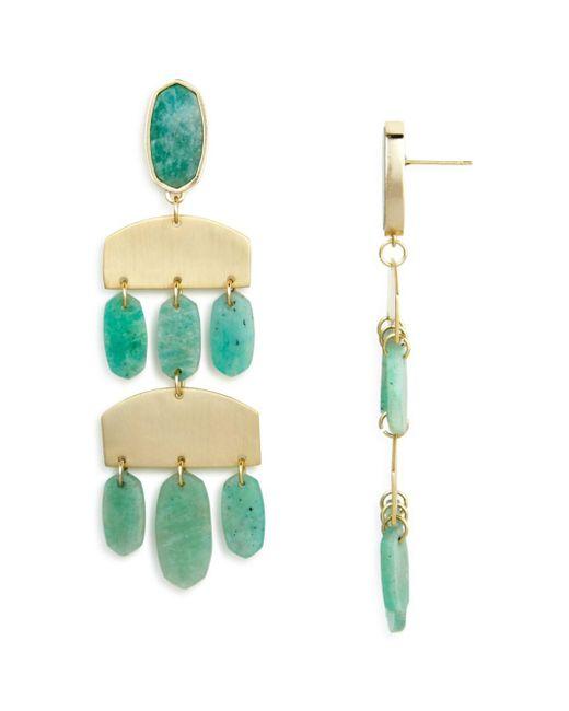 Kendra Scott - Green Emmet Chandelier Earrings - Lyst