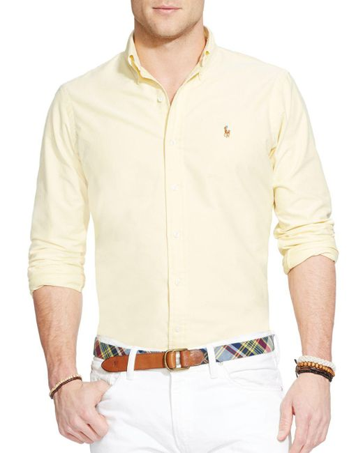 Polo Ralph Lauren - Yellow Oxford Button-down Shirt - Classic Fit for Men - Lyst
