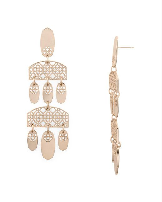 Kendra Scott - Metallic Emmet Tiered Chandelier Earrings - Lyst