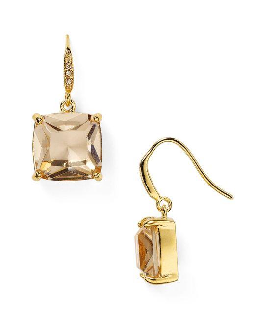 Carolee - Metallic Cushion Drop Earrings - Lyst