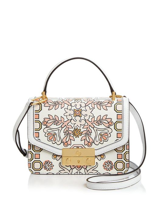 Tory Burch - Multicolor Juliette Printed Mini Leather Satchel - Lyst