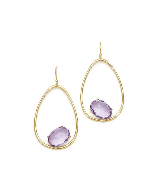 Ippolita - Metallic 18k Yellow Gold Rock Candy® Amethyst Drop Earrings - Lyst