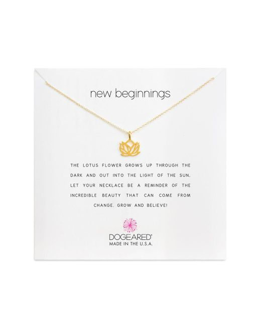 Dogeared - Metallic New Beginnings Necklace - Lyst