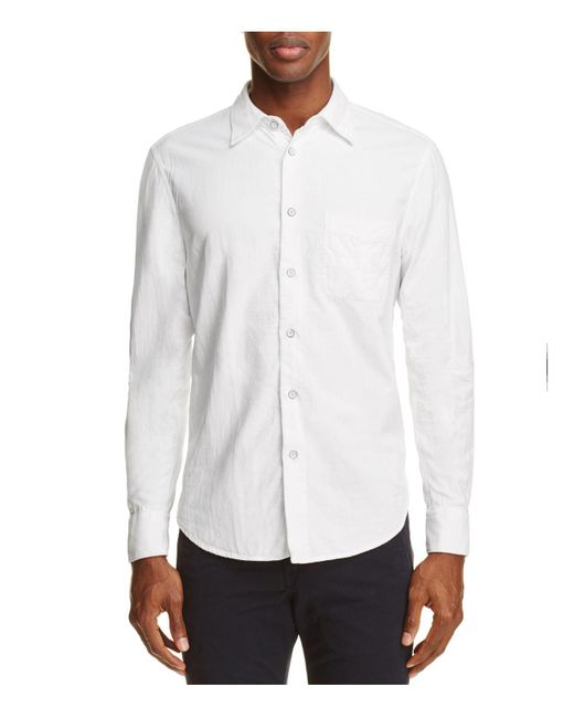 Rag & Bone | White Beach Regular Fit Button-down Shirt for Men | Lyst