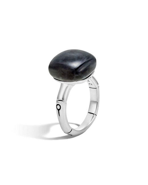 John Hardy - Metallic Batu Bamboo Silver Ring With Labradorite - Lyst