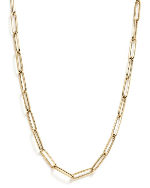 """Bloomingdale's - Metallic Thin Link Collar Necklace In 14k Yellow Gold, 19"""" - Lyst"""