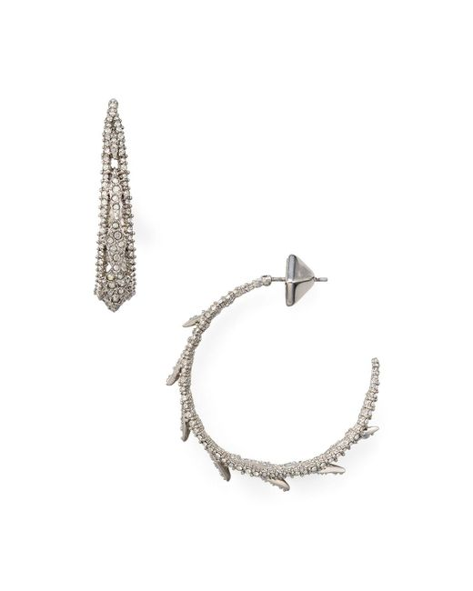 Alexis Bittar | Metallic Spiked Lattice Hoop Earrings | Lyst
