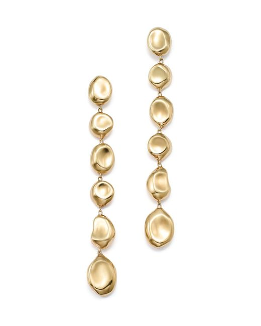 Ippolita | Metallic 18k Yellow Gold Onda Linear Pebble Earrings | Lyst