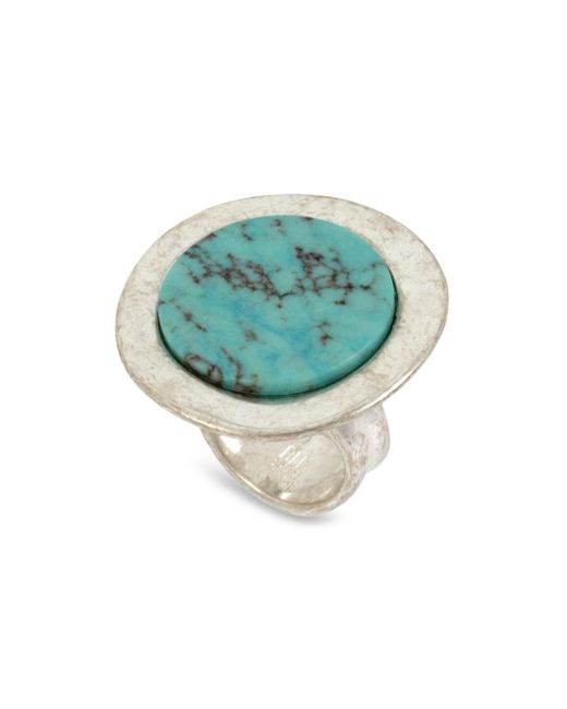 Robert Lee Morris - Metallic Turquoise Statement Ring - Lyst