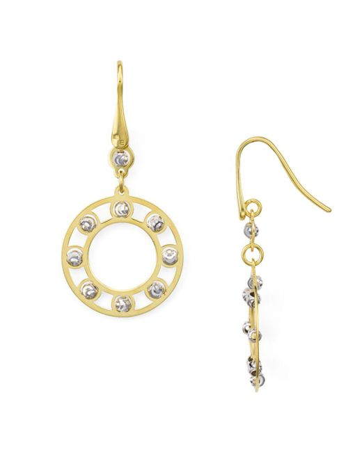 Officina Bernardi - Metallic Circle Drop Earrings - Lyst