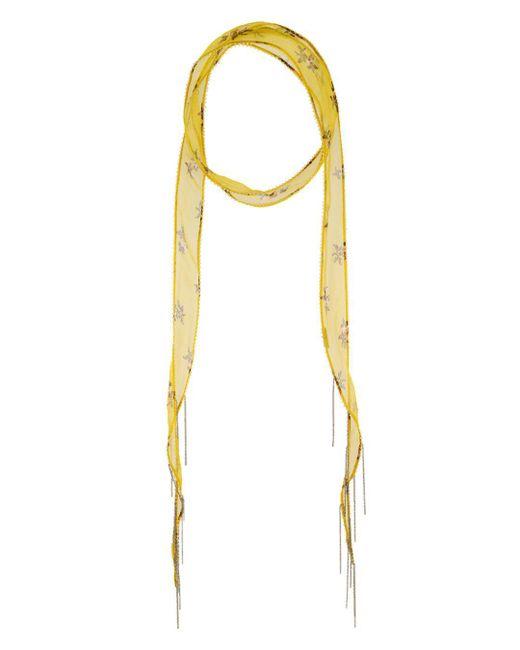 Chan Luu - Yellow Floral Print Skinny Scarf - Lyst