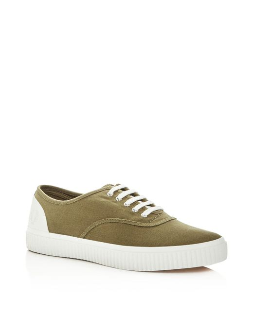 Fred Perry | Green Men's Barson Canvas Lace Up Sneakers for Men | Lyst