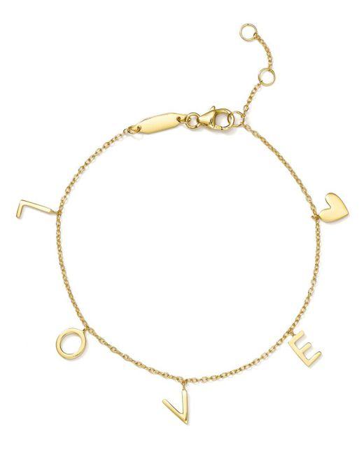 Argento Vivo - Metallic Love Charm Bracelet - Lyst