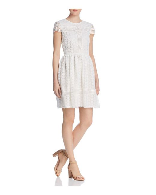 French Connection - White Parker Lace A-line Dress - Lyst