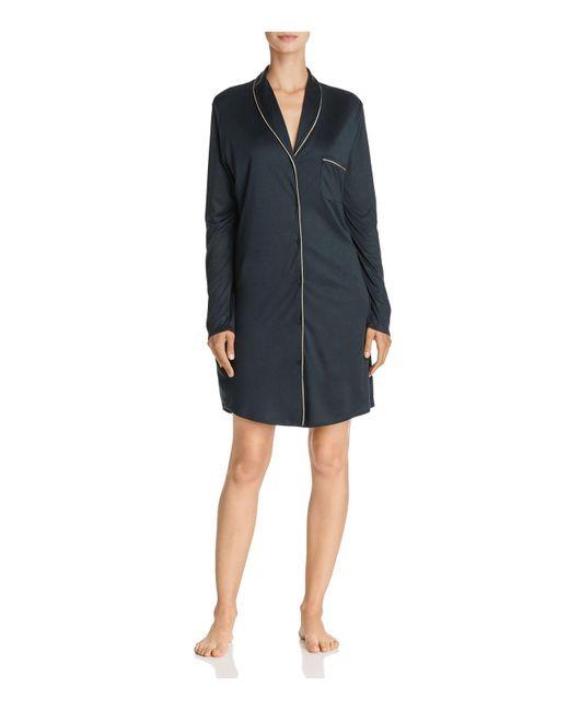 Hanro | Black Florentine Long Sleeve Gown | Lyst