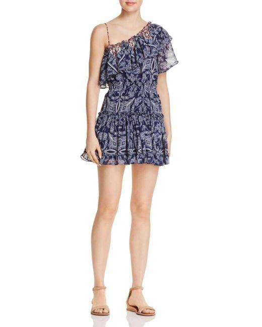 MISA - Blue Ezri One-shoulder Dress - Lyst