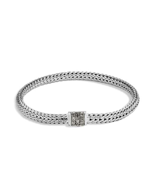 John Hardy | Metallic Sterling Silver Classic Chain Extra Small Bracelet With Mixed Grey Sapphire | Lyst