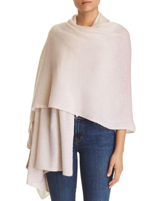 C By Bloomingdale's - Black Cashmere Travel Wrap - Lyst