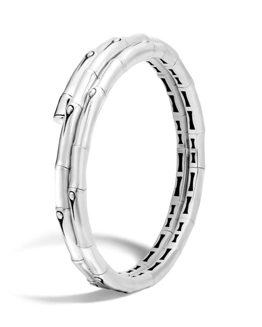 John Hardy - Metallic Bamboo Sterling Silver Small Double Coil Bracelet - Lyst