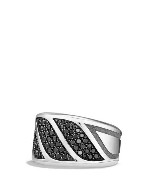 David Yurman - Metallic Graphic Cable Band Ring With Black Diamonds for Men - Lyst