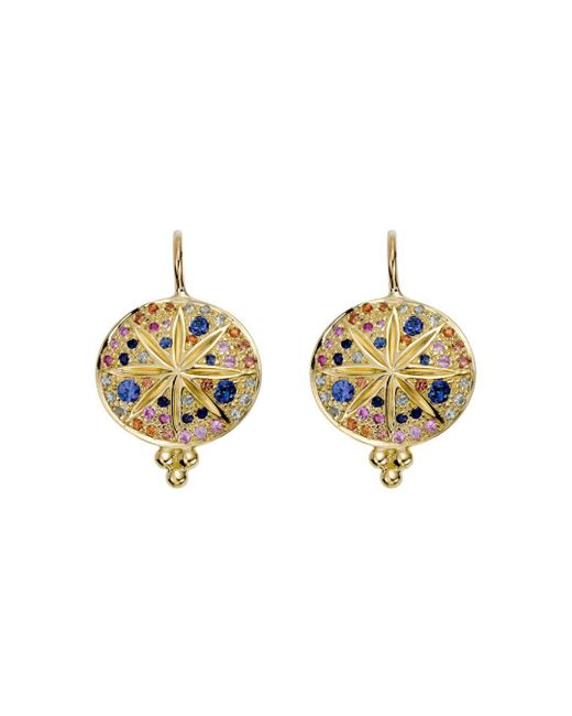 Temple St. Clair - Multicolor 18k Yellow Gold Pavé Sorcerer Earrings - Lyst