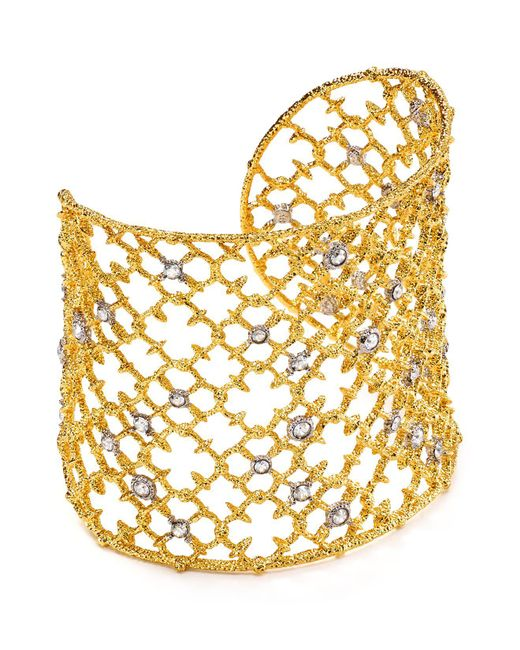 Alexis Bittar - Metallic Muse Dor Crystal Studded Spur Lace Cuff Bracelet You Might Also Like - Lyst