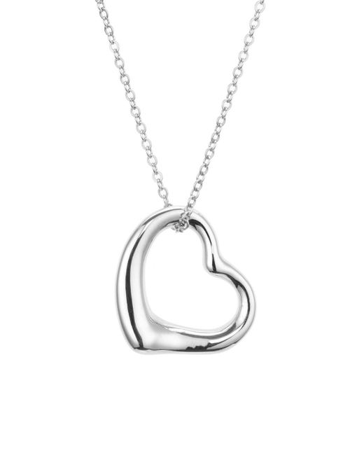 Bloomingdale's - Metallic Open Heart Pendant Chain Necklace - Lyst
